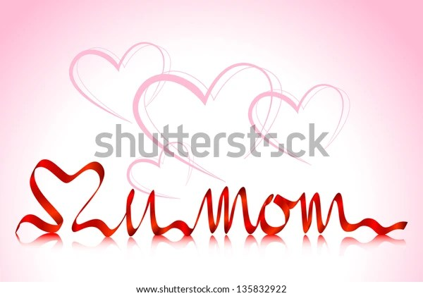 Download Vector Illustration Love You Mom Background Stock Vector ...