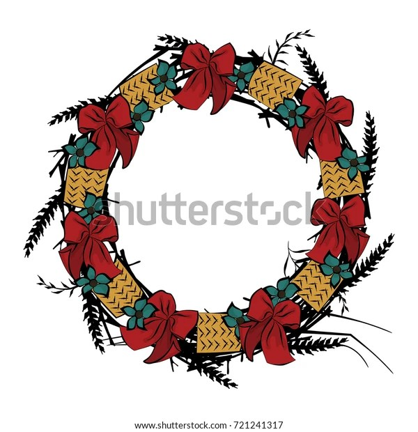wreath template free # 31