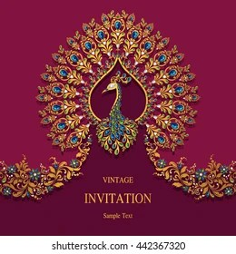 https www shutterstock com image vector wedding invitation card abstract background islam 442367320