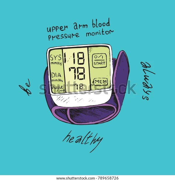 White Upper Arm Blood Pressure Monitor Stock Vector Royalty Free