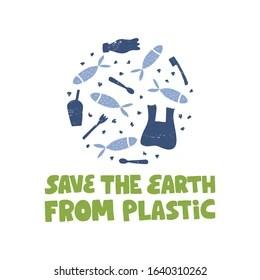 zero waste plastic free slogan stop