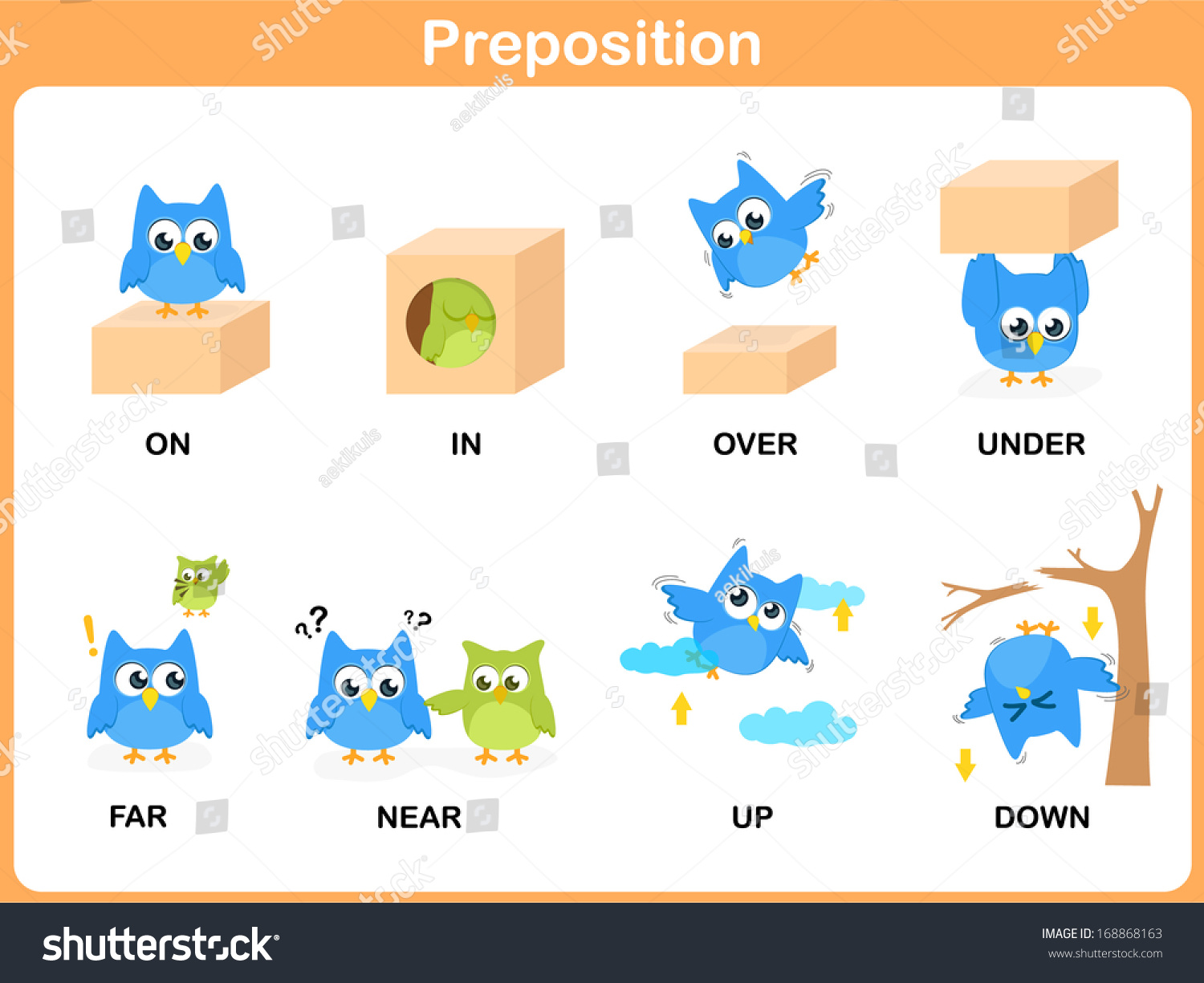 Royalty Free Preposition Of Motion For Preschool