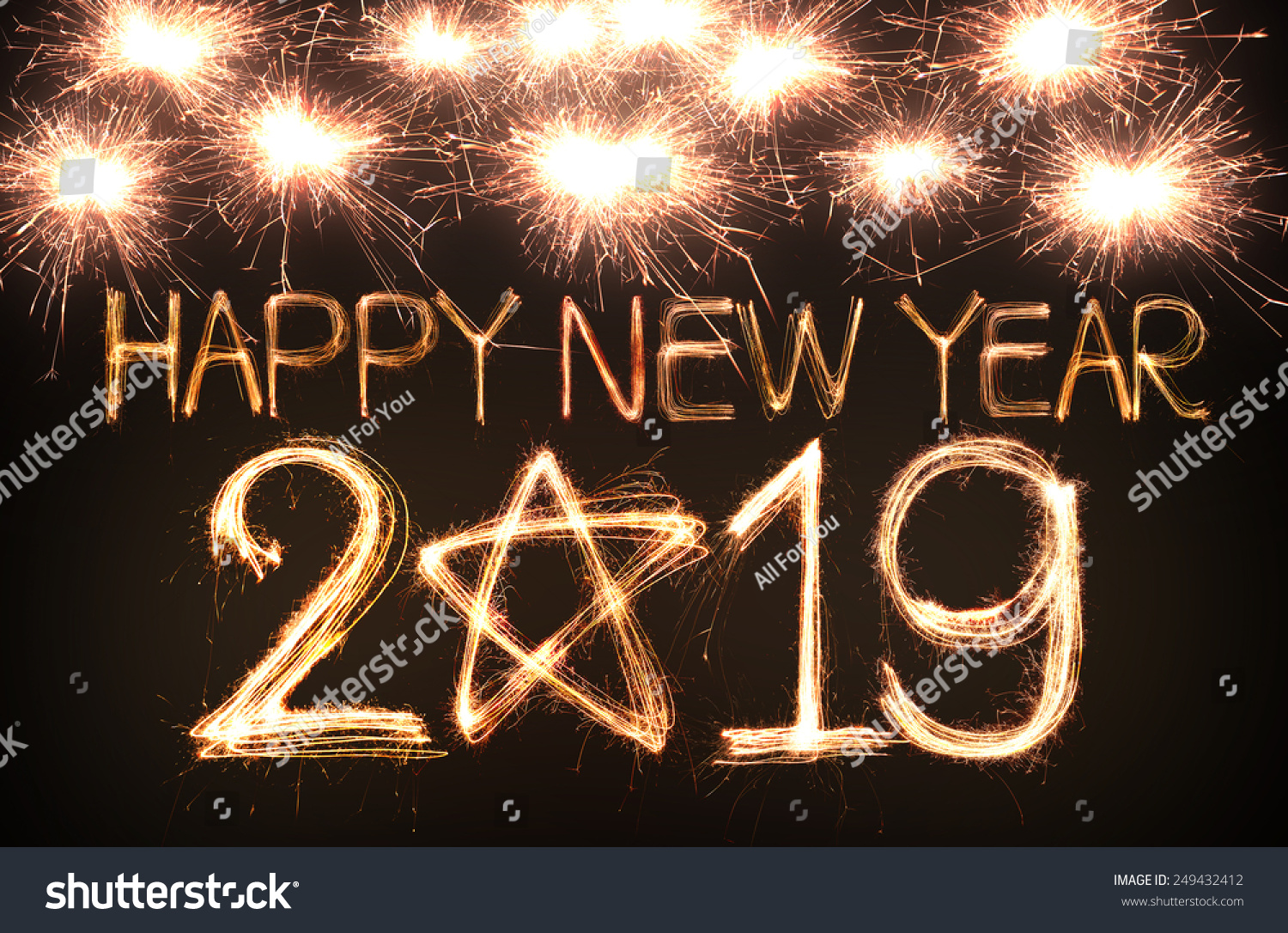 Royalty Free Happy New Year 2019 Written With 249432412