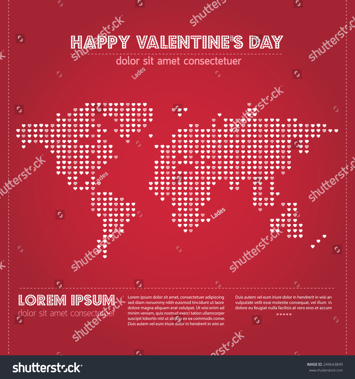 Valentine S Day All Around The World Stock Photo