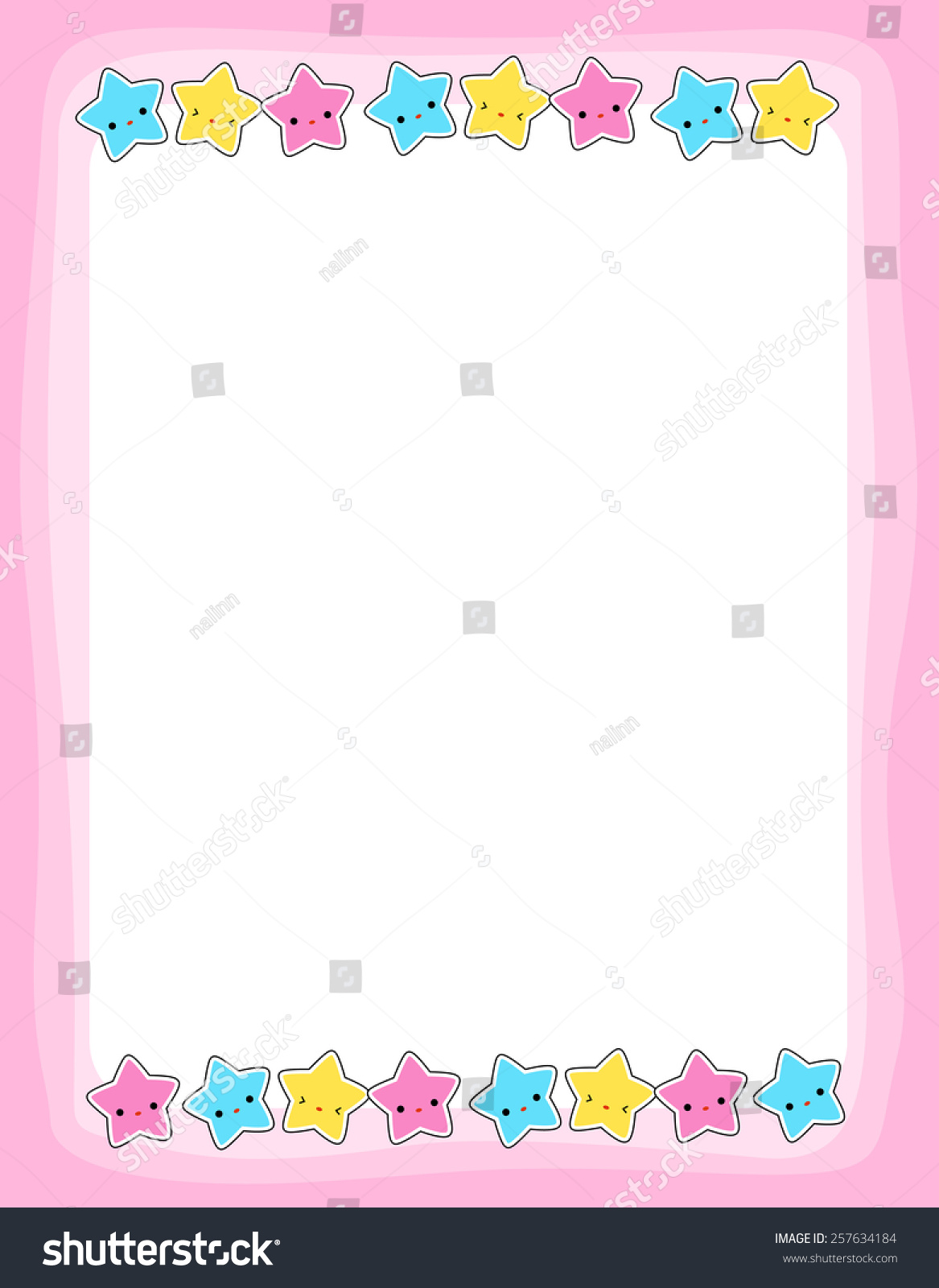 Pre School Kids Coloring Book Page Stock Photo