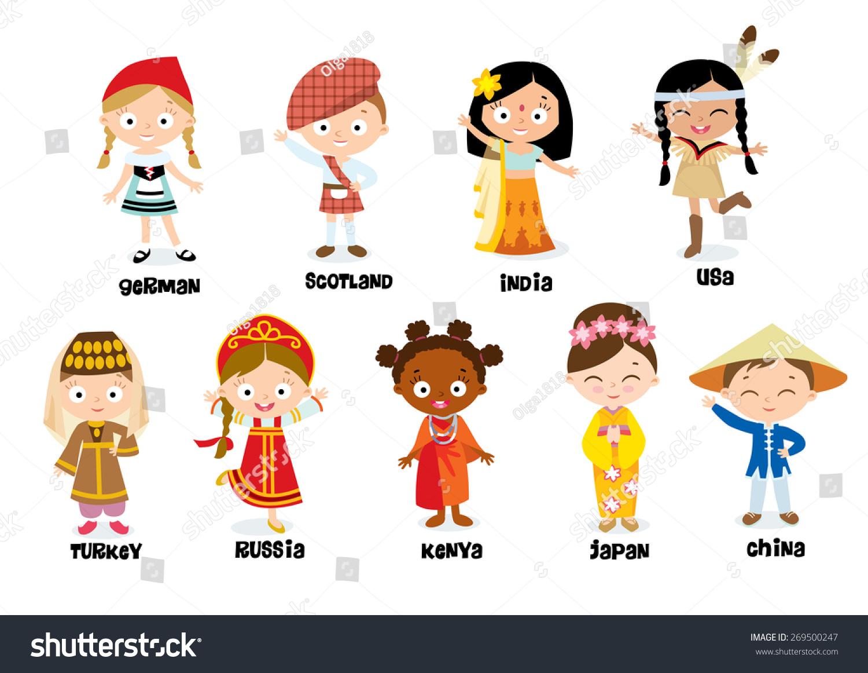 Nationalities For Children Stock Photo