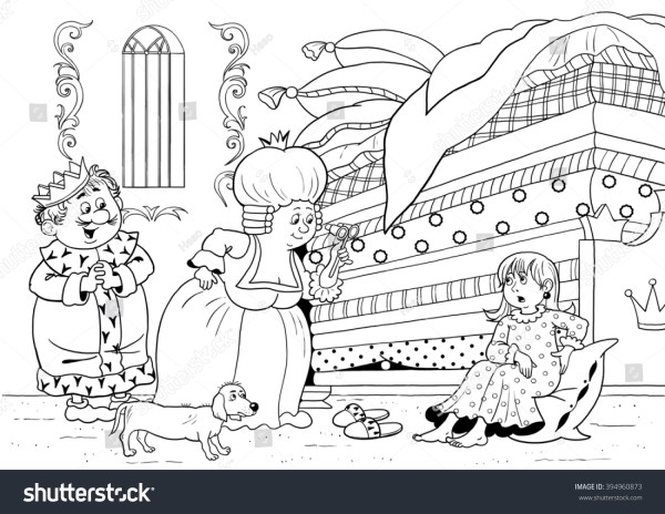 coloring pages kids fairy tale king queen # 7