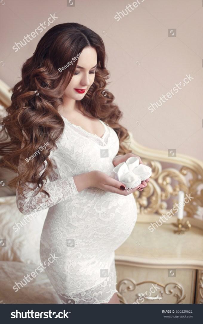pregnancy, beautiful pregnant woman… stock photo 600229622