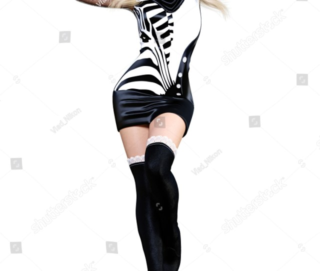 D Beautiful Blonde In Short Dress And Long Boots Bright Makeup Woman Studio Photography
