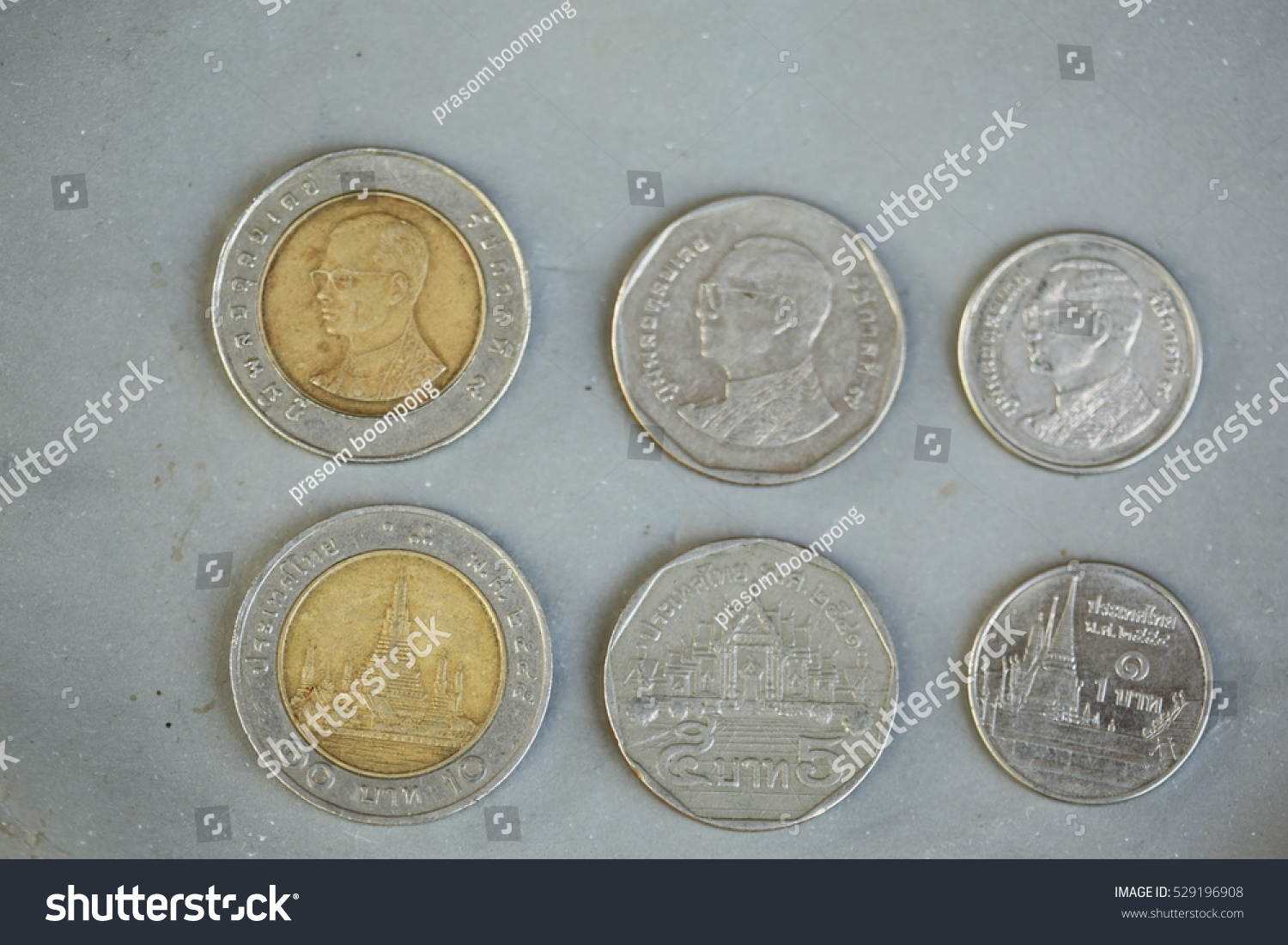 Thai Baht Silver Coins Front And Back Stock Photo Shutterstock