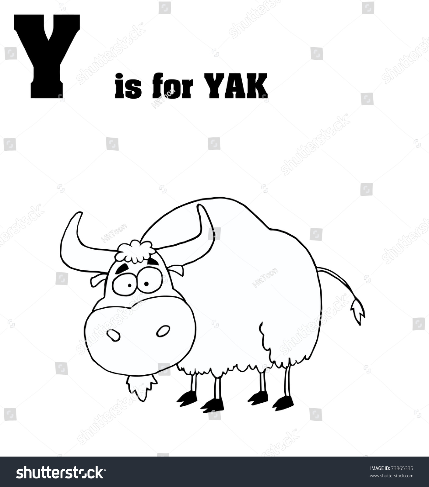 Y Yak Text Stock Illustration