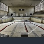 Panorama Taken Old Abandoned Olympic Swimming Stock Photo Edit Now 49713751