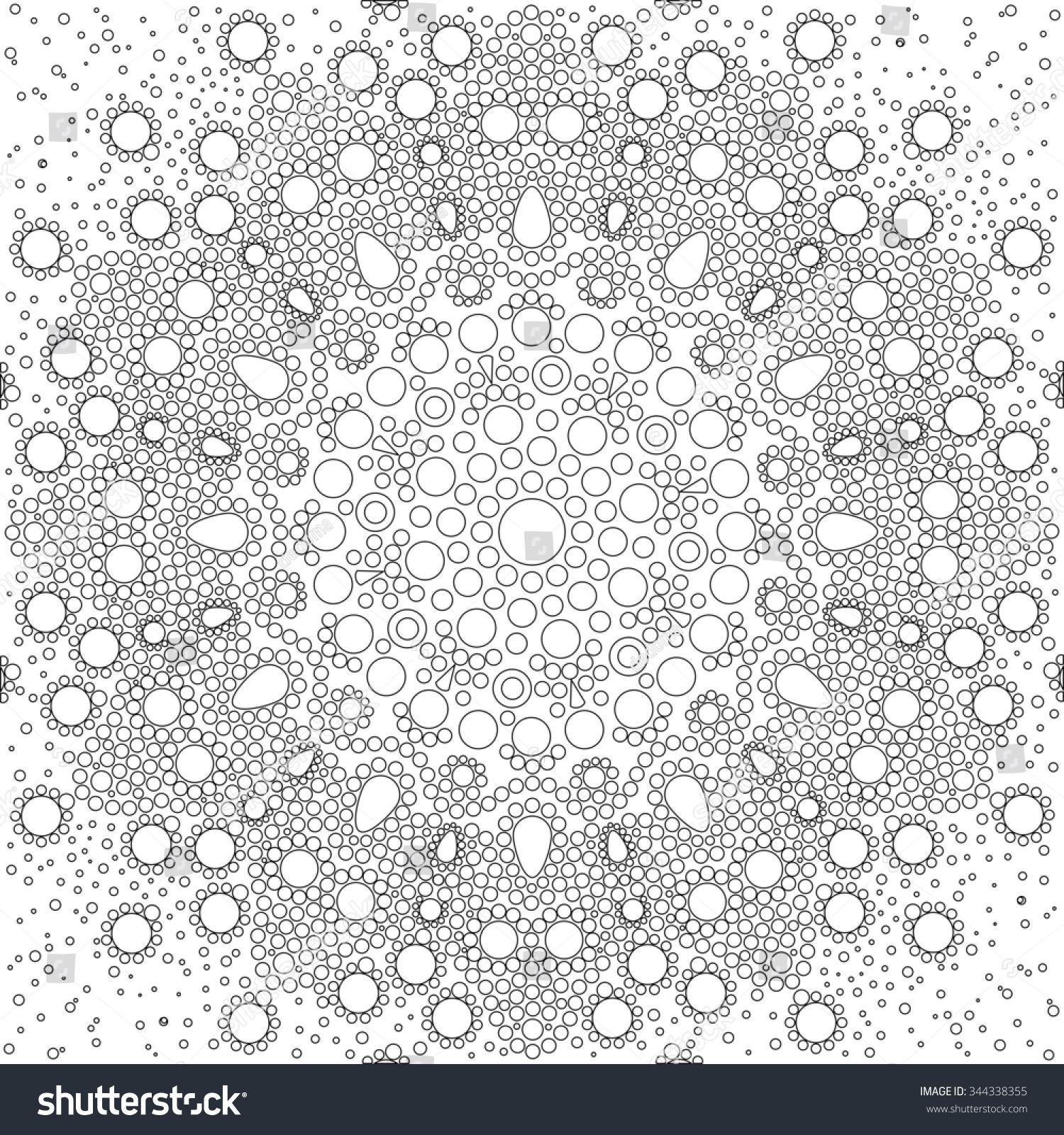 Aboriginal Style Dot Painting Power Mandala Stock