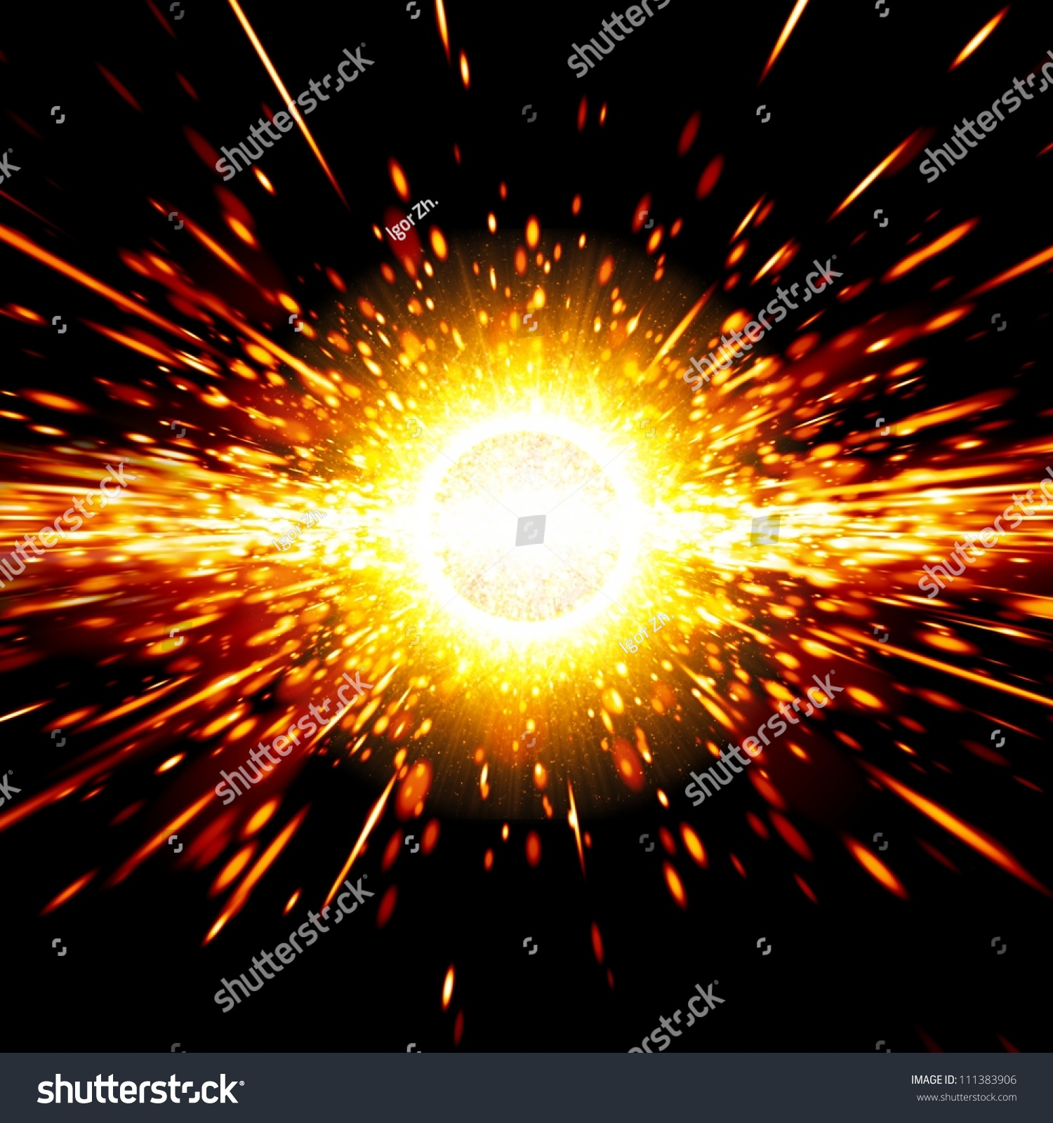 Abstract Science Background Big Exploding Space Stock