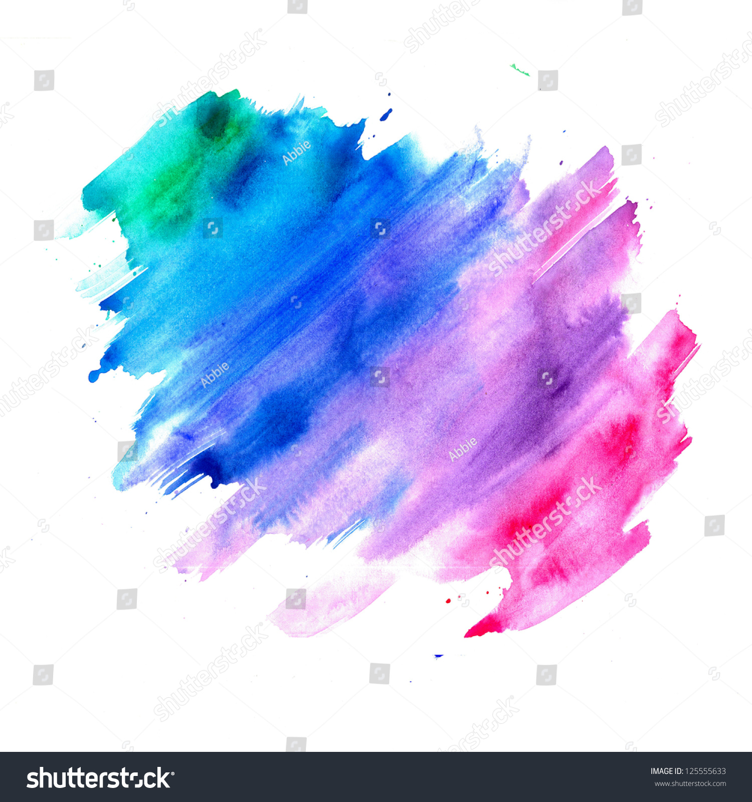 Abstract Watercolor Background Blue Purple Pink Stock