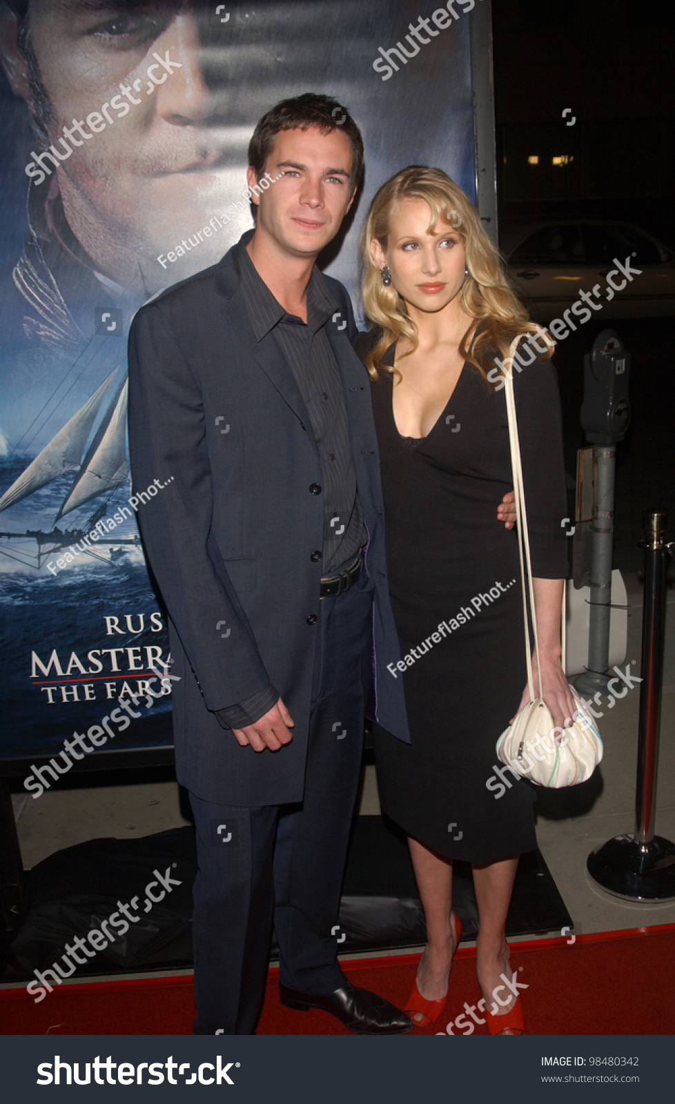 Actor James Darcy Girlfriend Actress Lucy Stock Photo