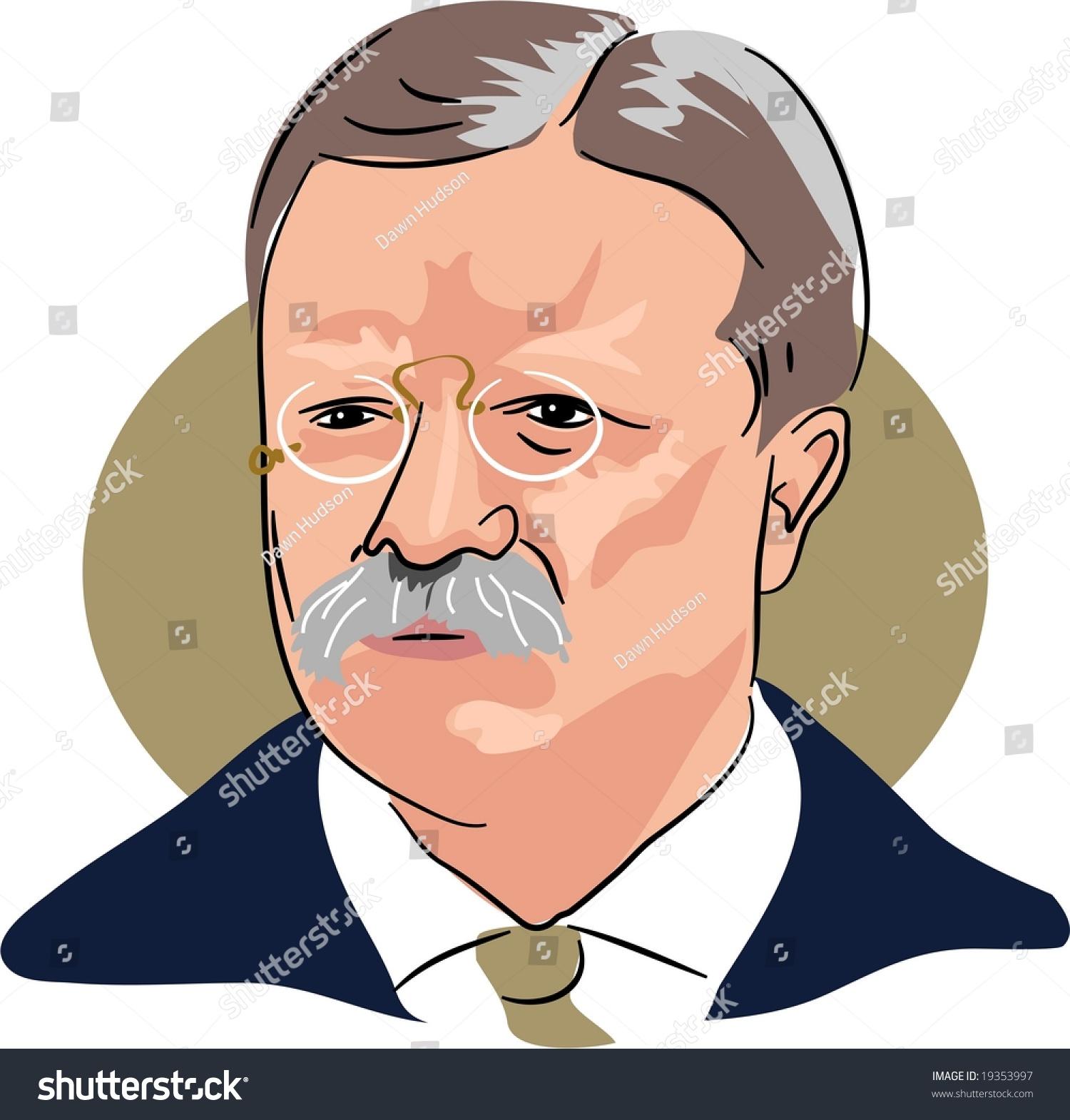 American President Theodore Roosevelt Stock Photo