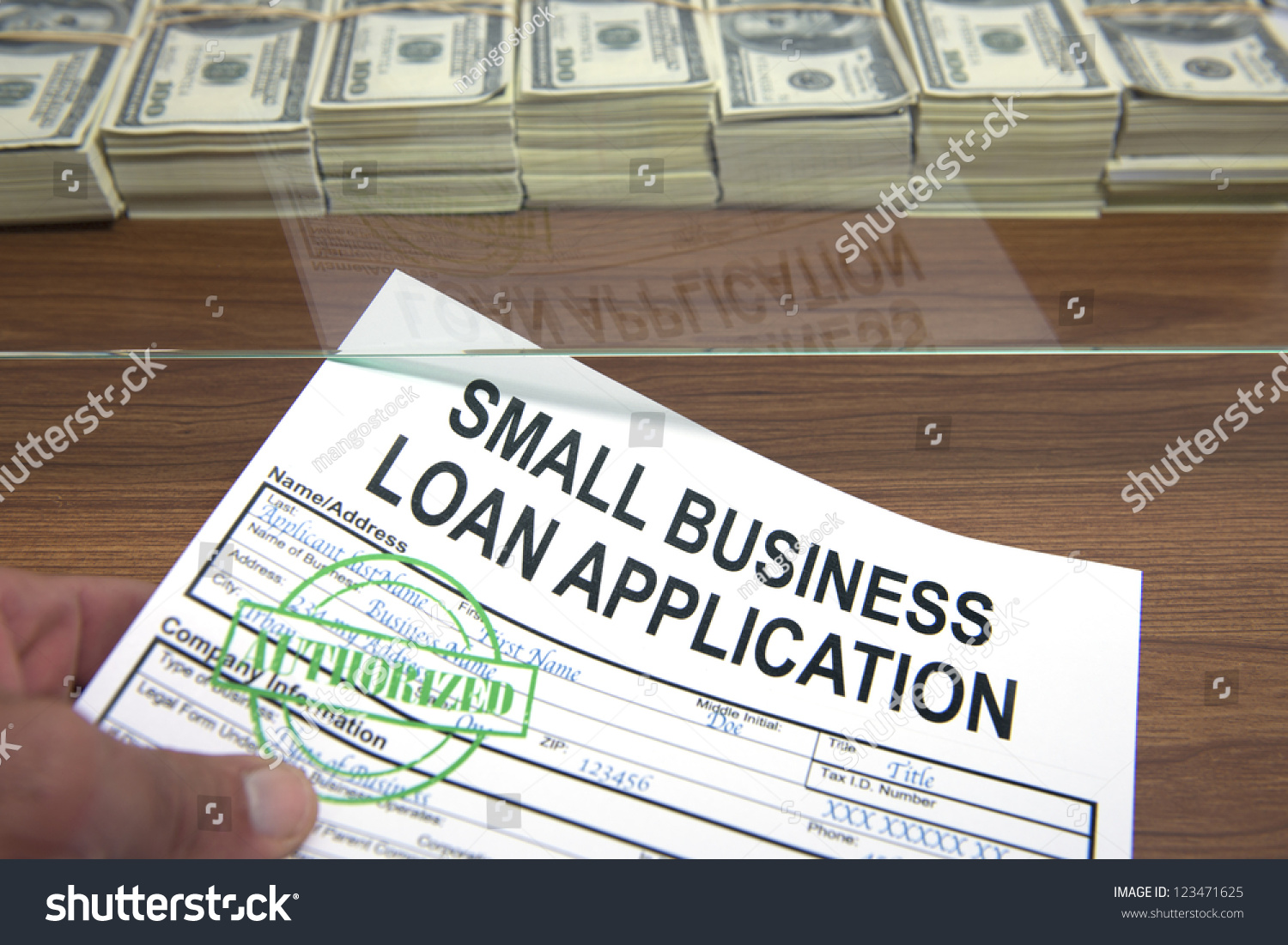 Approved Small Business Loan Application Dollar Stock