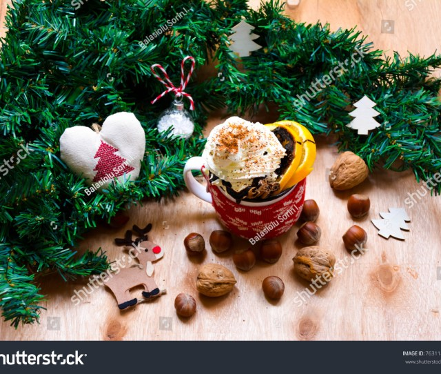 Christmas Gingerbread Cookies And Decoration On Wooden Background Ez Canvas