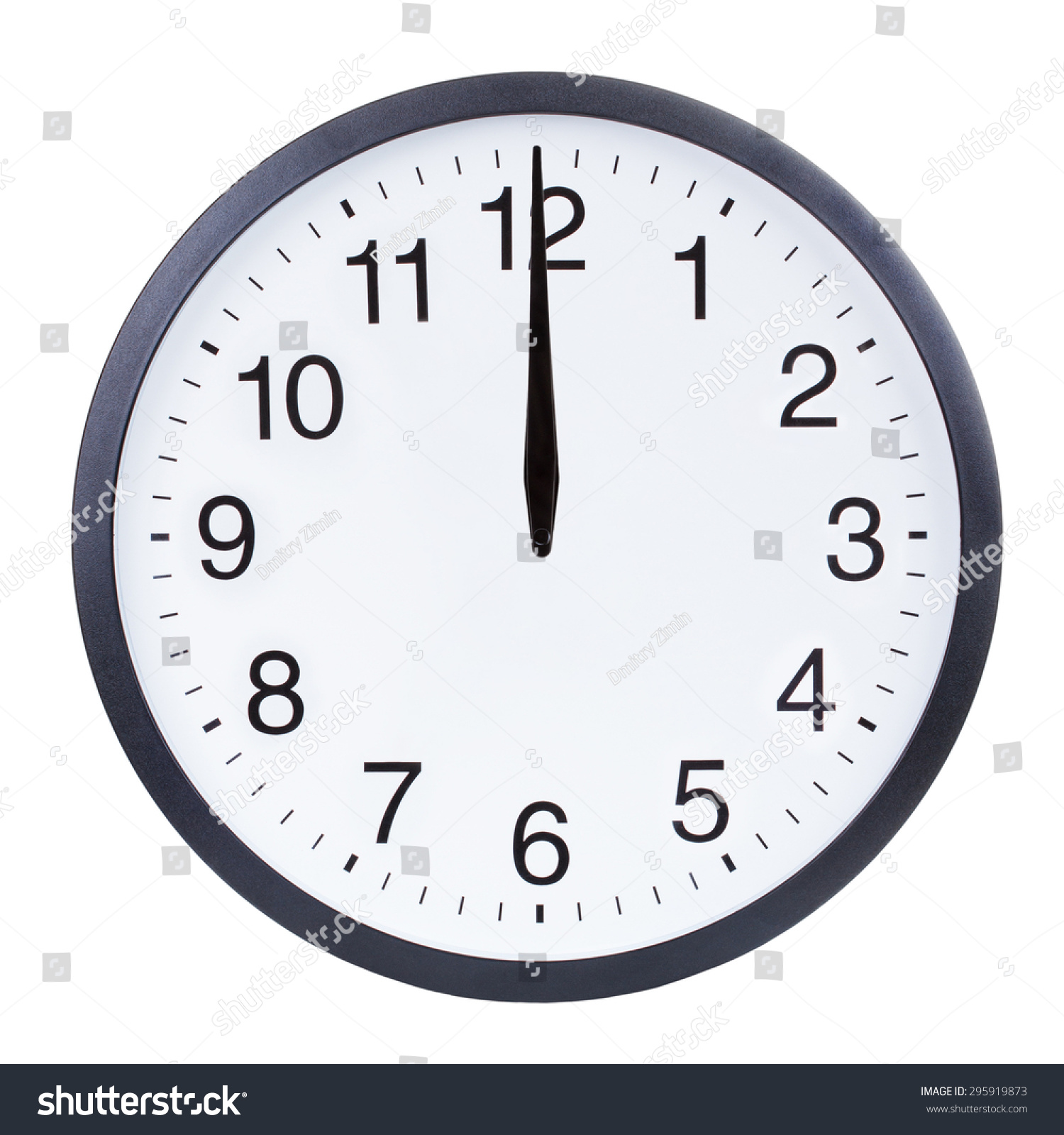 Blank Clock Face With Hour Minute And Second Hands