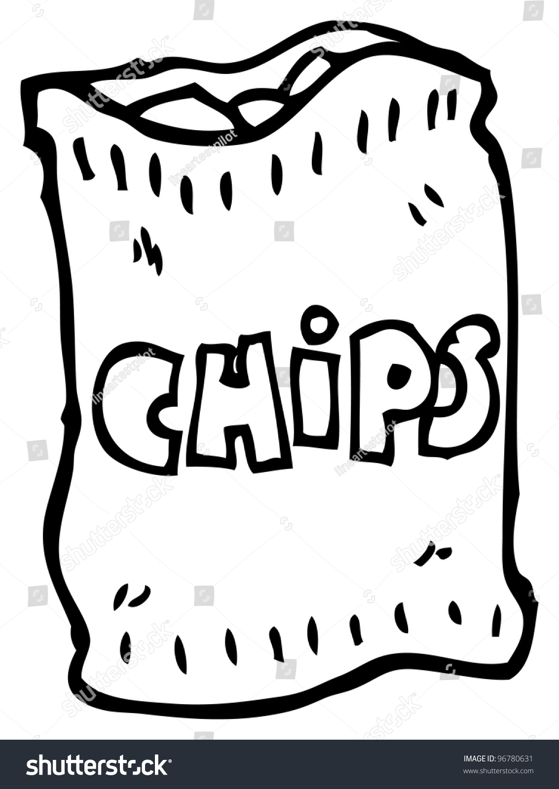 Cartoon Bag Chips Stock Illustration 96780631 Shutterstock