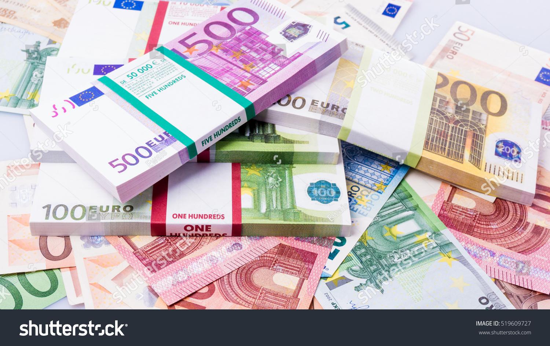 Cash Money Euro Bills Euro Currency Stock Photo
