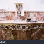 Catholic Liturgical Objects Displayed Over Marble Stock Photo Edit Now 1239387751