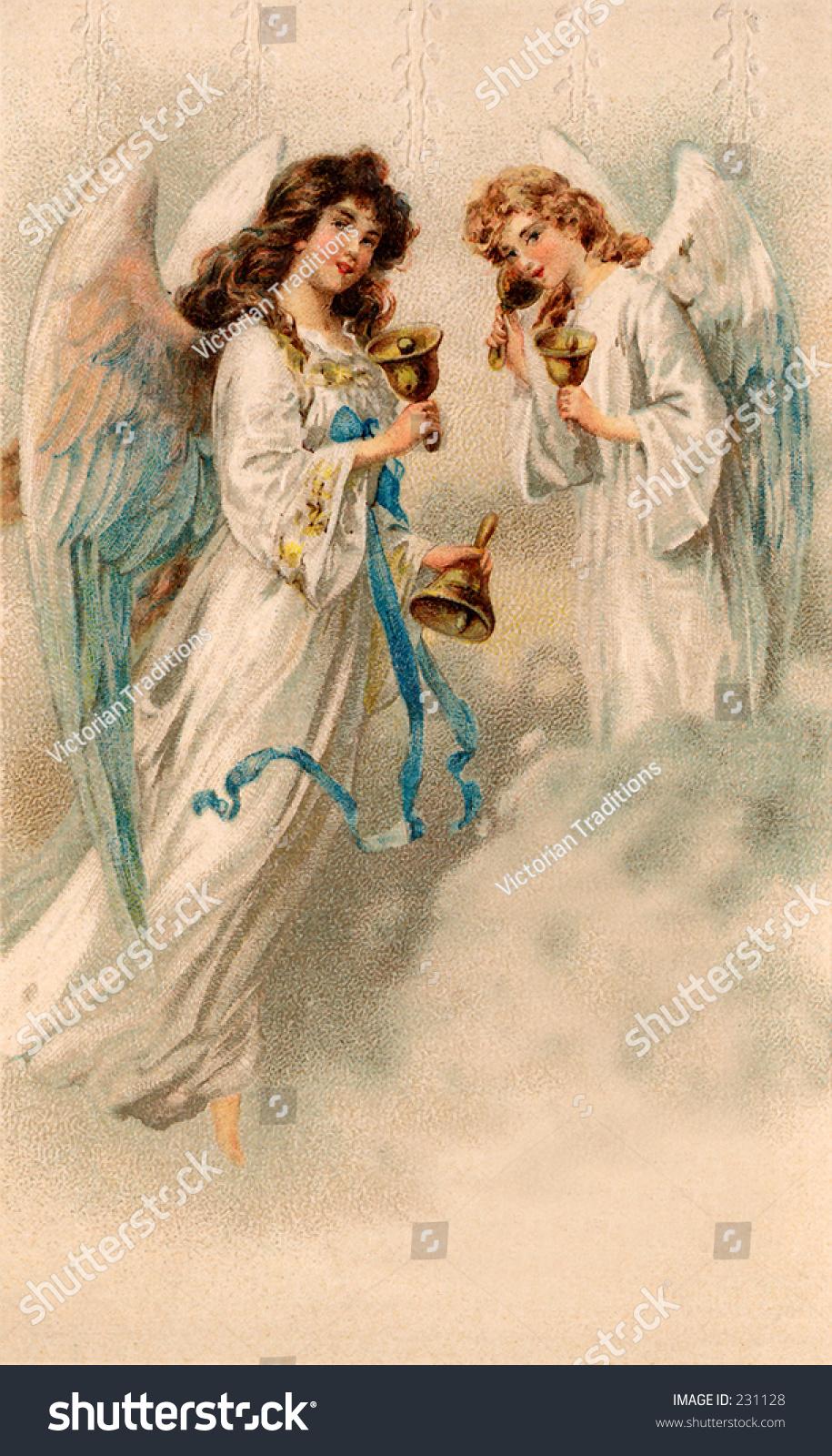 Christmas Angels A 1912 Vintage Illustration 231128