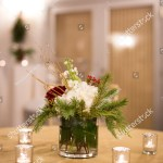 Christmas Themed Floral Centerpiece Decoration Pine Stock Photo Edit Now 781815709