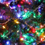 Christmas Tree Beautifully Decorated Multicolored Lights Stock Photo Edit Now 1053021581