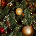 Christmas Tree Decorations Beautiful Bokeh Closeup Stock Photo Edit Now 1574121127