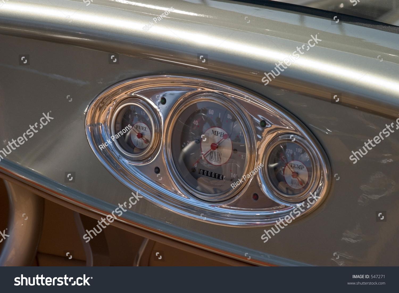 Classic Car Instrument Panel Stock Photo Shutterstock
