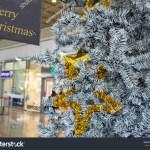 Close Grey Gold Christmas Tree Mall Stock Photo Edit Now 226239499