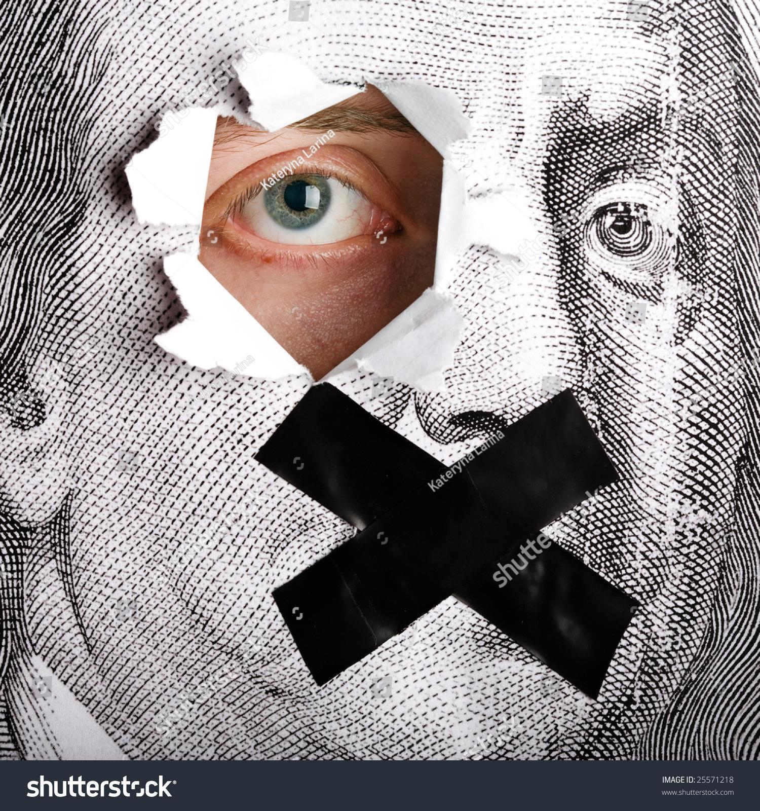 Close Up Of Portrait Of Benjamin Franklin Form 100 Dollars