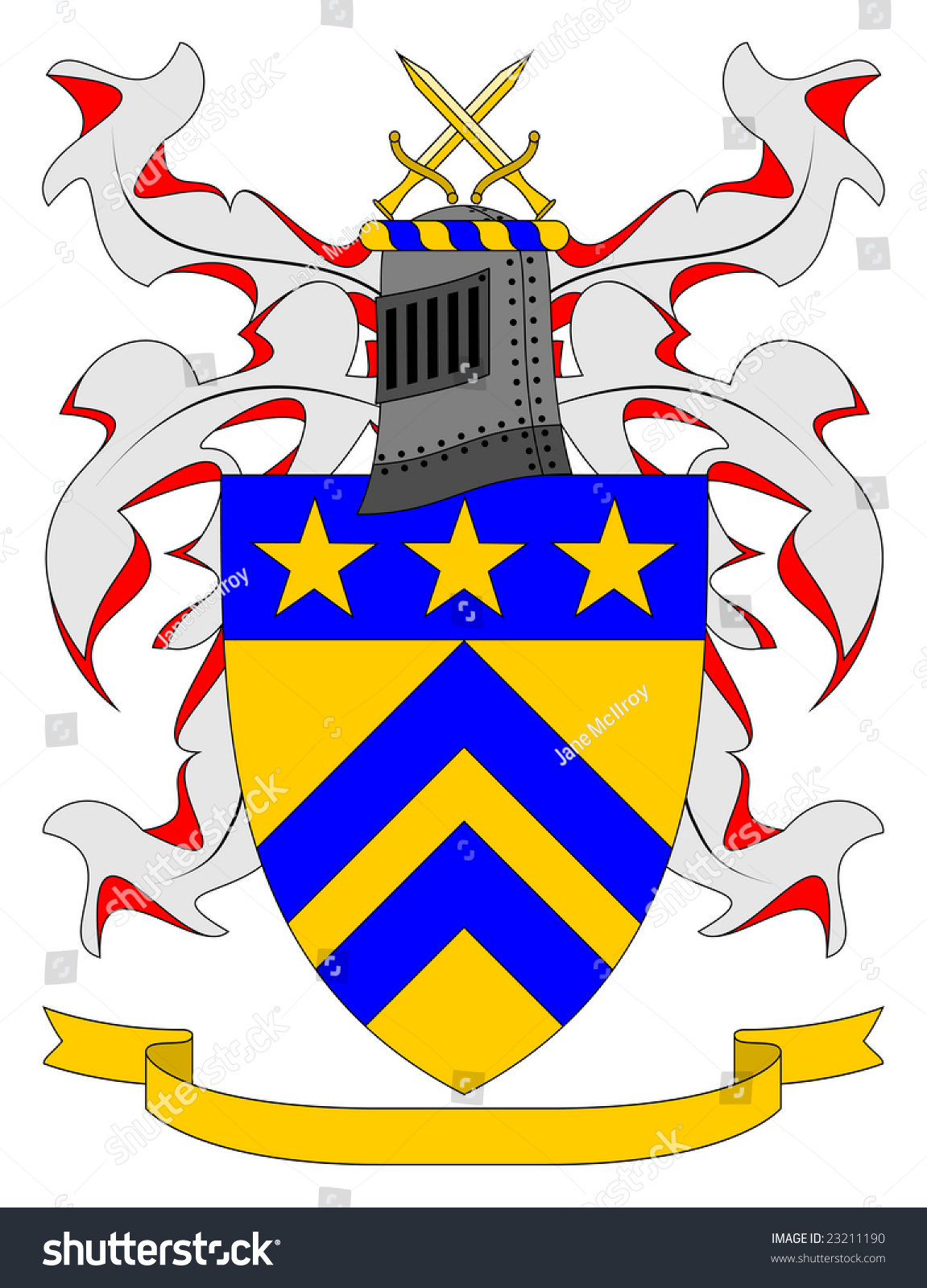 Coat Of Arms Armorially Correct Generic Illustration