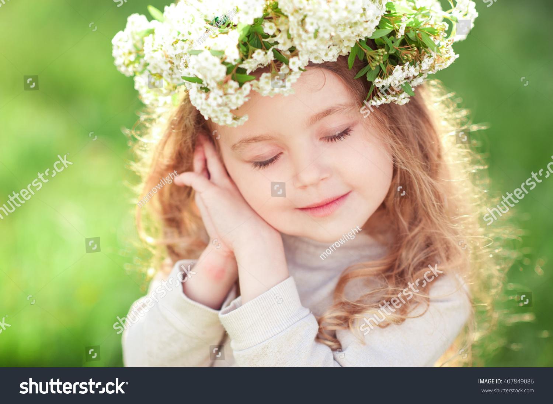 Cute Baby Girl 34 Year Old Arkivbilde