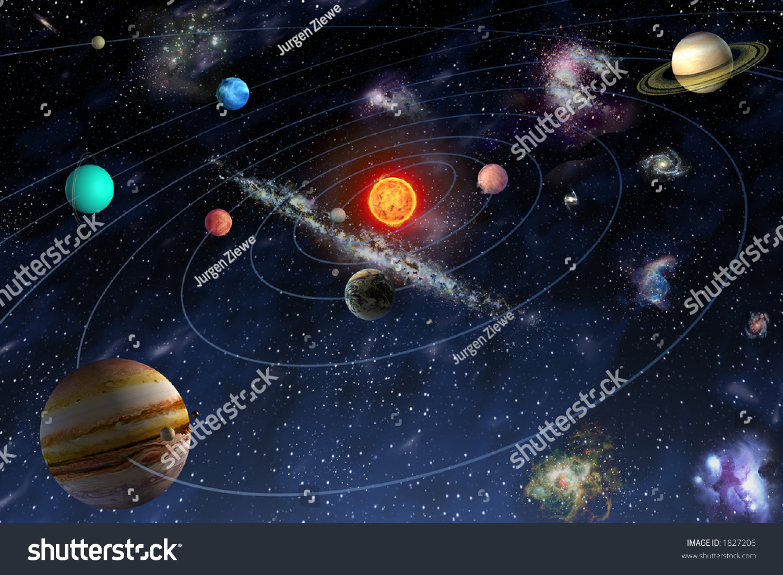 Diagram Planets Solar System Stock Illustration