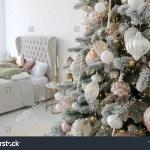 Elegant Christmas Tree White Pink Toys Stock Photo Edit Now 1217235511
