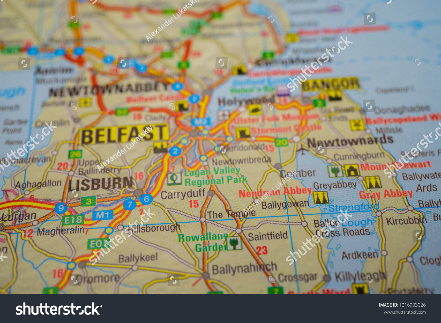 Europe Road Atlas Background Stock Photo  Royalty Free  1016903026     Europe road atlas background