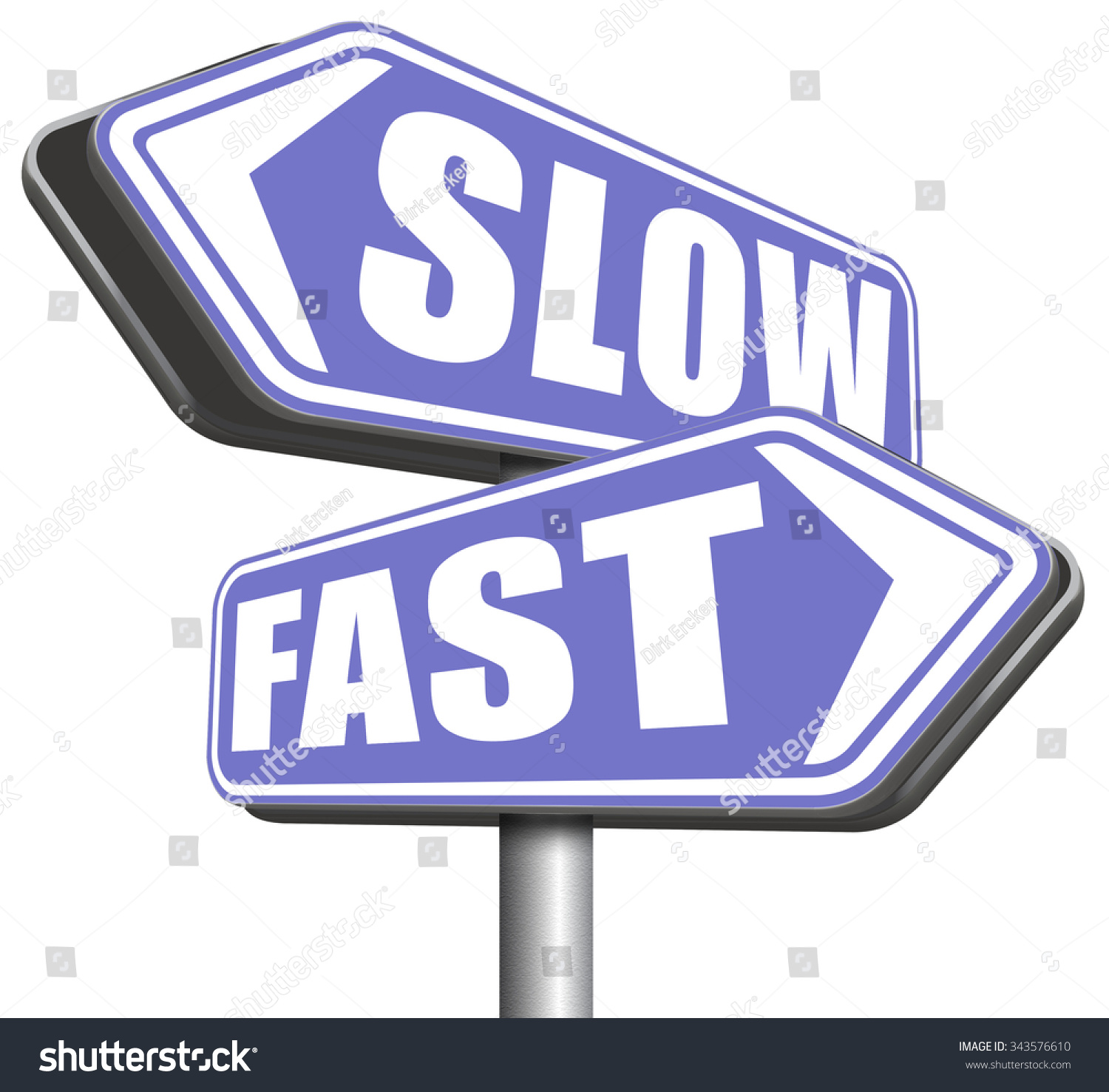 Fast Or Slow Pace Lane Or Living Faster Or Slower Speed