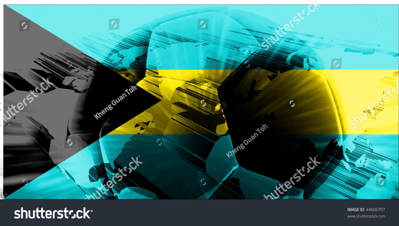 Flag Of Bahamas National Country Symbol Illustration