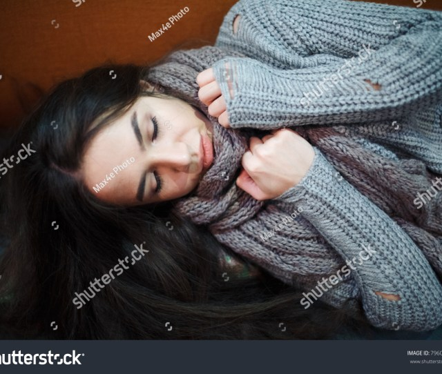 Flu Cold Or Allergy Symptom Sick Young Woman With Fever Sneezing In Tissue Allergies