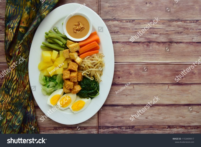 Gadogado Traditional Indonesian Food Made Boiled Stock Photo Edit Now 1153499917