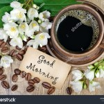 Good Morning Morning Coffee Jasmine Flowers Stock Photo Edit Now 1093625888