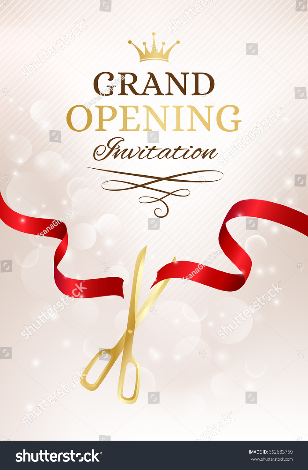 https www shutterstock com image illustration grand opening invitation card cut red 662683759