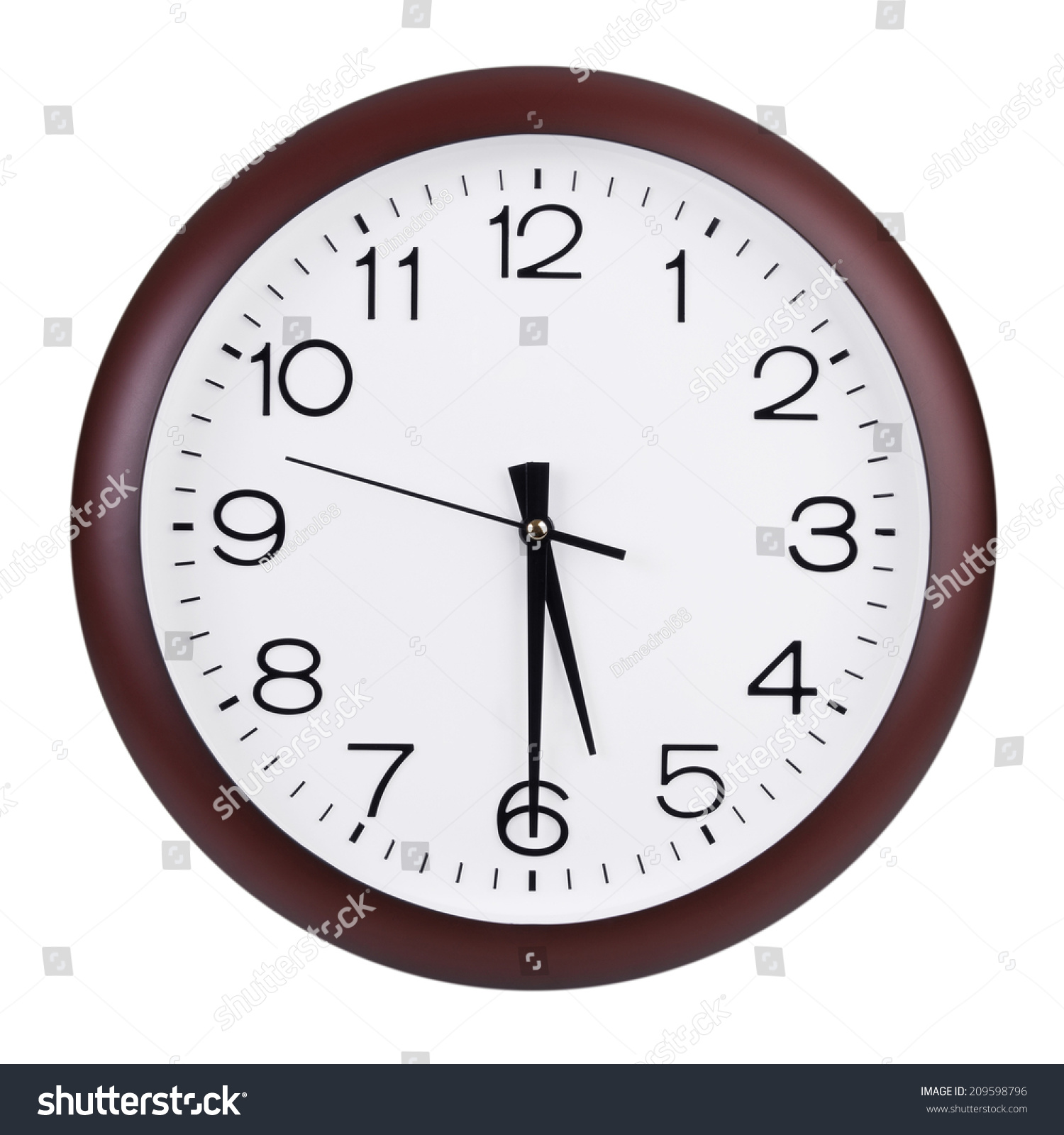 Half Past Five Oclock On Dial Stock Photo