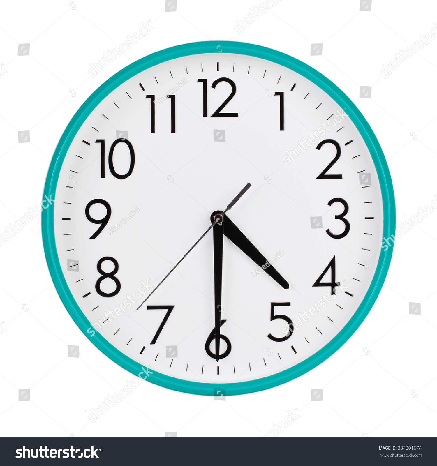Half Past Four Oclock On Dial Stock Photo