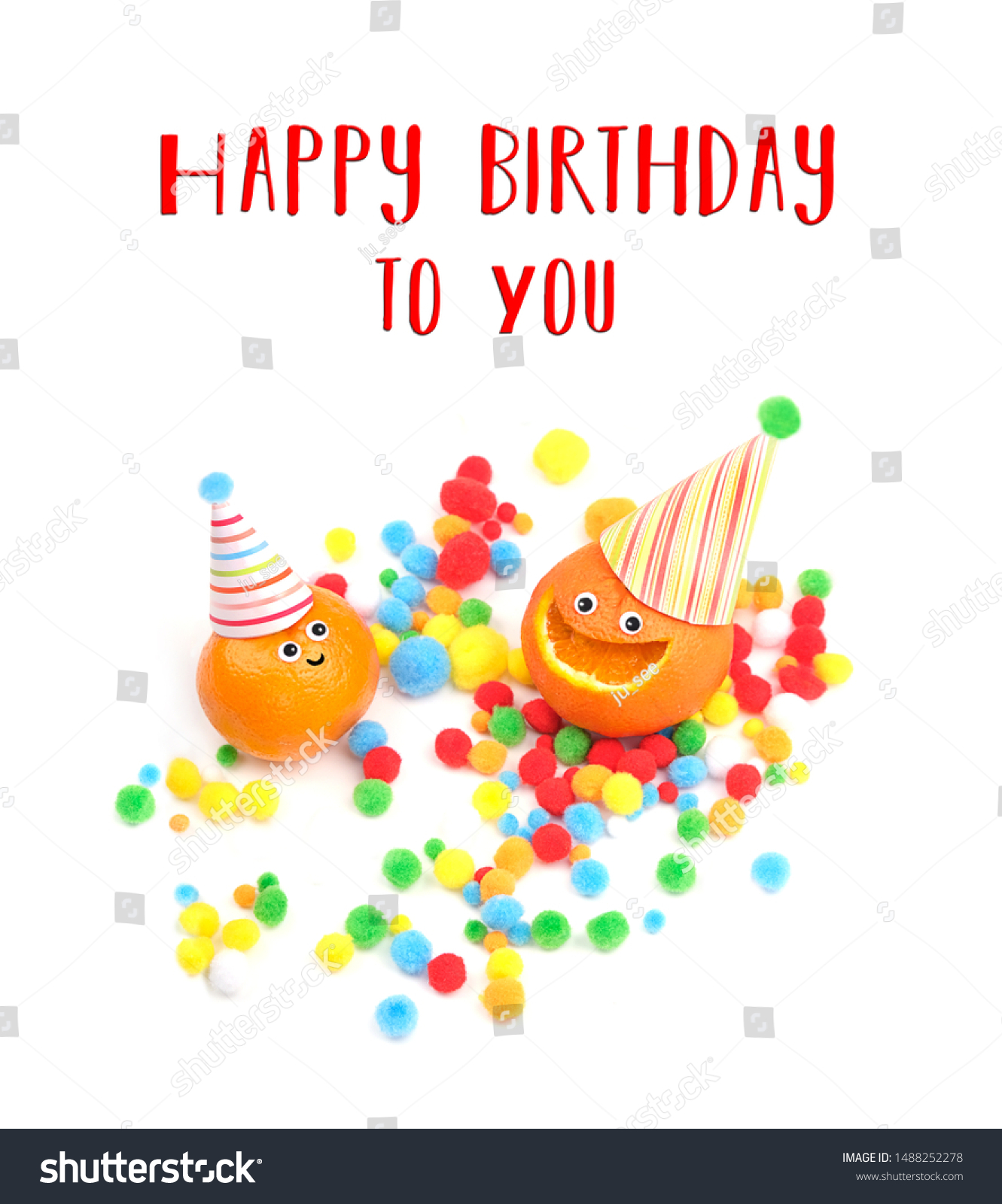 Happy Birthday You Greeting Card Two Stock Photo Edit Now 1488252278