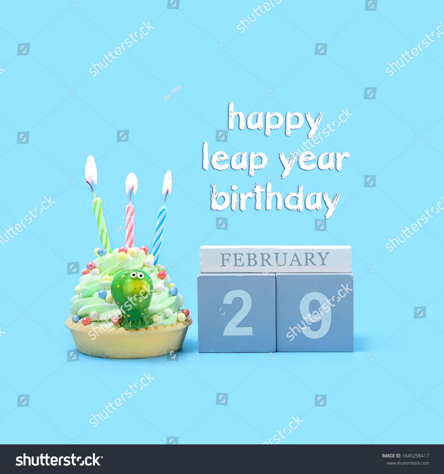Happy Leap Year Birthday Greeting Concept Stock Photo Edit Now 1645258417