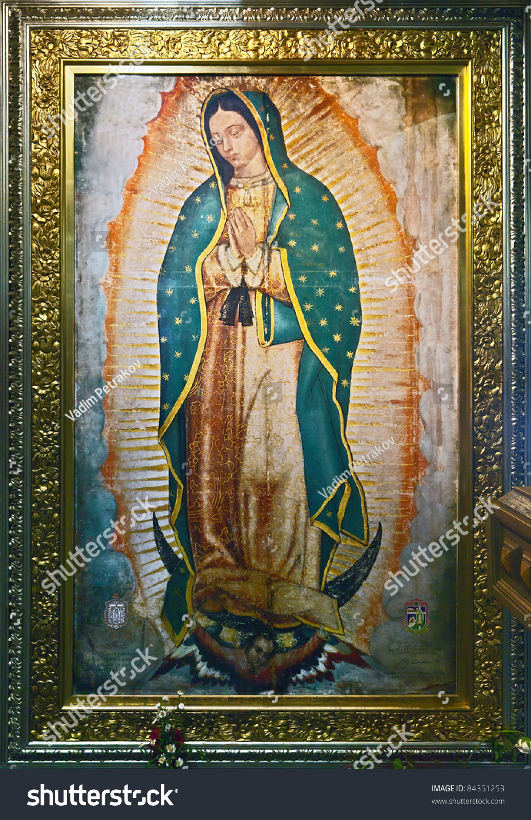 Icon Of Our Lady Of Guadalupe Virgin Of Guadalupe In